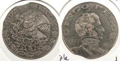World Coins - MEXICO: 1977-Mo 5 Pesos