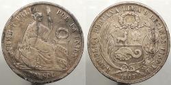 World Coins - PERU: 1867 Sol