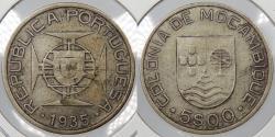 World Coins - MOZAMBIQUE: 1935 5 Escudos