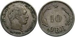 World Coins - DENMARK: 1891 10 Ore