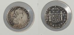 World Coins - PERU: 1799-LIMAE IJ Charles IV 1/2 Real