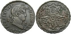 World Coins - SPAIN: Ferdinand VII 1827 2 Maravedis