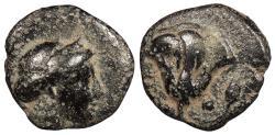 Ancient Coins - Islands off Caria Rhodes Rhodos c. 400-350 B.C. AE11 VF