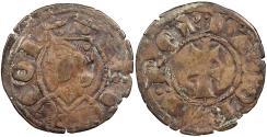 World Coins - SPAIN Aragon Jaime II 1291-1327 Dinero (Diner) Near EF