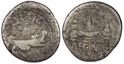 Ancient Coins - Marc Antony 43-31 B.C. Denarius Military Mint moving with Marc Antony VG