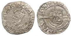 World Coins - FRANCE Besançon Charles V, as Holy Roman Emperor 1530-1556 1/2 Blanc 1547 EF