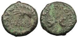 Ancient Coins - Claudius 41-54 A.D. Quadrans Rome Mint Near VF