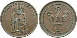 World Coins - SWEDEN: 1878 2 Ore
