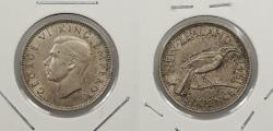 World Coins - NEW ZEALAND: 1941 George VI Sixpence