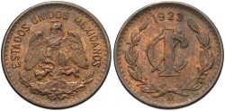 World Coins - MEXICO: 1923 1 Centavo