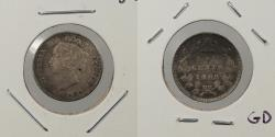 World Coins - CANADA: 1889 5 Cents
