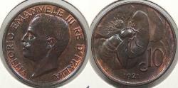 World Coins - ITALY: 1921-R 10 Centesimi