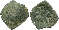 Ancient Coins - Michael VIII, Palaeologus 1261-1282 Trachy Constantinople mint.