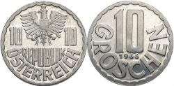 World Coins - AUSTRIA: 1966 10 Groschen