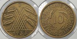 World Coins - GERMANY: 1933-J 10 Pfennig