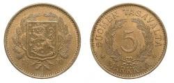 World Coins - FINLAND 1930 5 Markkaa AU