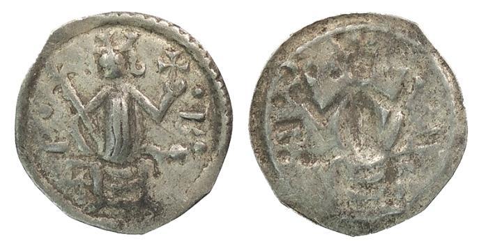 World Coins - HUNGARY   Bela III or IV 1172-1196 and/or 1235-1270 Bracteate Denar  VF
