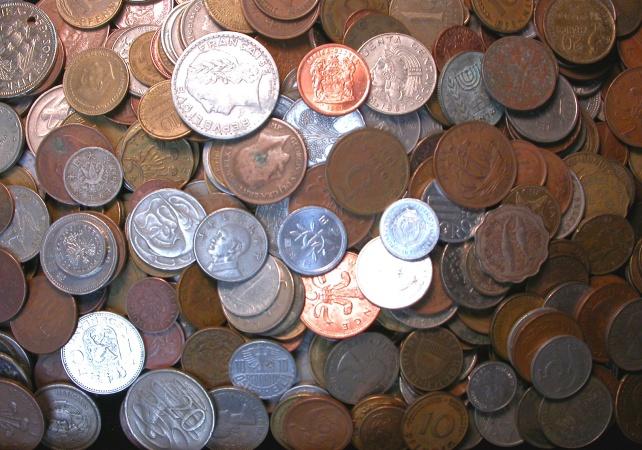 World Coins 5 LBS Lot Mixed World Coins