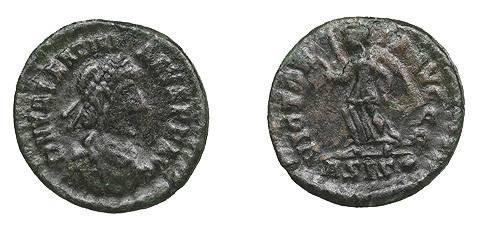 Ancient Coins - Valentinian II 375-392 A.D. AE4 Siscia Mint Good Fine