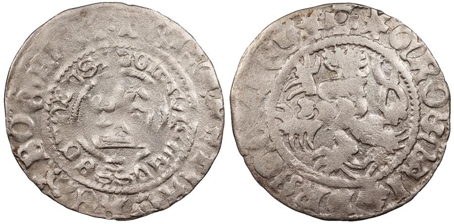World Coins - BOHEMIA Wladislaus II Jagiellon, King of Poland 1471-1516 Pragergroschen EF