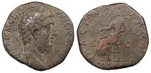 Ancient Coins - Commodus 180-192 A.D. Sestertius Rome Mint Good Fine