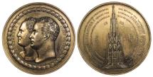 World Coins - GERMAN STATES Prussia Berlin By H. F. Brandt 1818 AE 50mm Bronze Medal AU