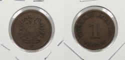 World Coins - GERMANY: 1875-H Pfennig