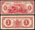 World Coins - CURACAO (CURAÇAO) Curacao Muntbiljetten 1947 1 Gulden Fine+