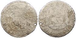 World Coins - MEXICO Ferdinand (Fernando) VI 1758-Mo M 2 Reales 'Pistareen' No Grade