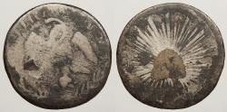World Coins - MEXICO: (1825-1869) Mintmark could possibly be C, Ga, or Go. Contemporary counterfeit Real