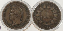 World Coins - FRENCH COLONIES: 1844 5 Centimes