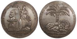 World Coins - BOLIVIA Potosi Mint. By E. Molon. 1850 AR Proclamation Medal AU
