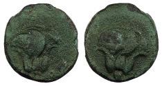 Ancient Coins - Islands off Caria Rhodos Rhodes c. 205-190 B.C. Chalkous VF