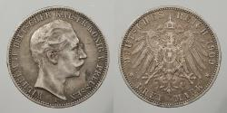 World Coins - GERMAN STATES: Prussia 1909-A 3 Mark