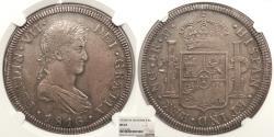 World Coins - GUATEMALA Ferdinand VII 1816-NG M 8 Reales NGC MS-62