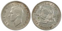 World Coins - NEW ZEALAND George VI 1942 Shilling EF