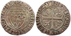 World Coins - FRANCE Charles VI 1380-1422 Blanc Guenar Nice VF