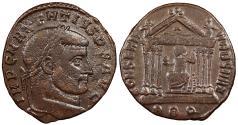 Ancient Coins - Maxentius 306-312 A.D. Follis Rome Mint Good VF