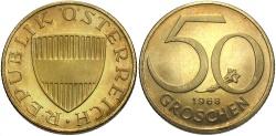 World Coins - AUSTRIA: 1968 50 Groschen