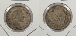 World Coins - DENMARK: 1874 25 Øre