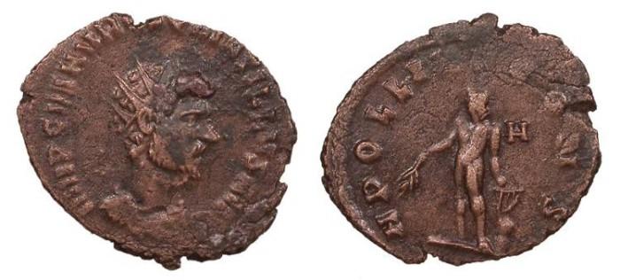 Ancient Coins - Quintillus 270 A.D. Antoninianus Rome Mint Good VF