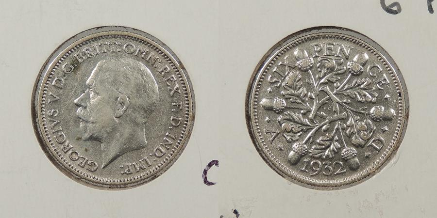 World Coins - GREAT BRITAIN: 1932 Threepence