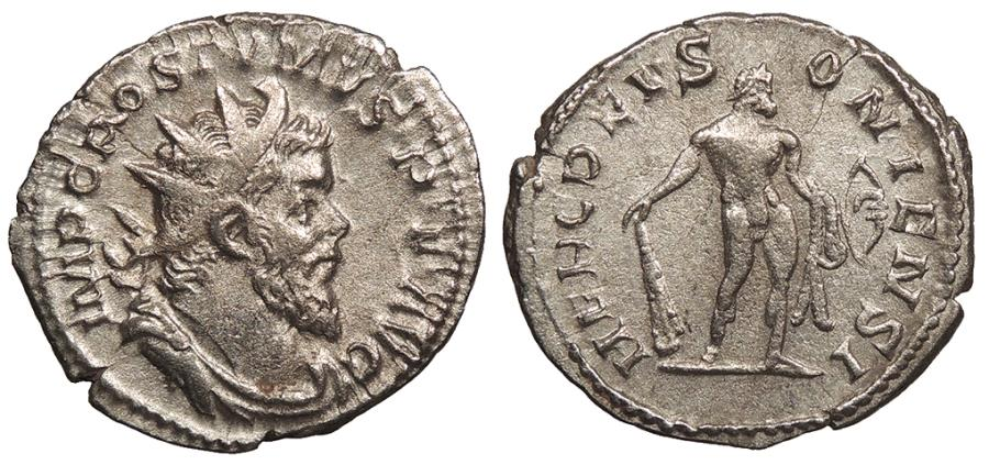 Ancient Coins - Postumus 259-268 A.D. Antoninianus Lugdunum Mint VF