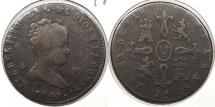 World Coins - SPAIN: 1848-Ja 4 Maravedis