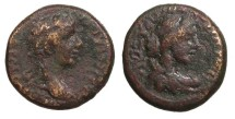 Ancient Coins - Phrygia Aezanis Germanicus, father of Caligula Died 19 A.D. AE16 VF