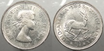 SOUTH AFRICA: 1953 5 Shillings