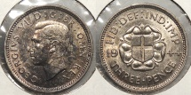 World Coins - GREAT BRITAIN: 1944 3 Pence