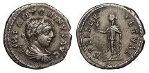 Ancient Coins - Elagabalus 218-222 A.D. Denarius Antioch Mint Good VF