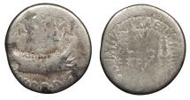 Ancient Coins - Marc Antony 43-31 B.C. Denarius Military Mint moving with Marc Antony Fine