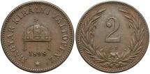 World Coins - HUNGARY: 1898-KB 2 Filler